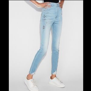 Express Ankle Legging Super High Rise Jeans Size 6